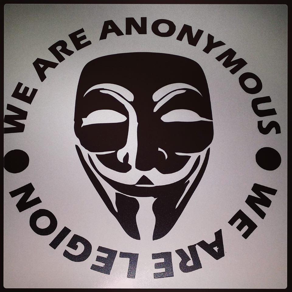 We Are Anonymous - We Are Legion - Die Cut Vinyl Sticker Decal