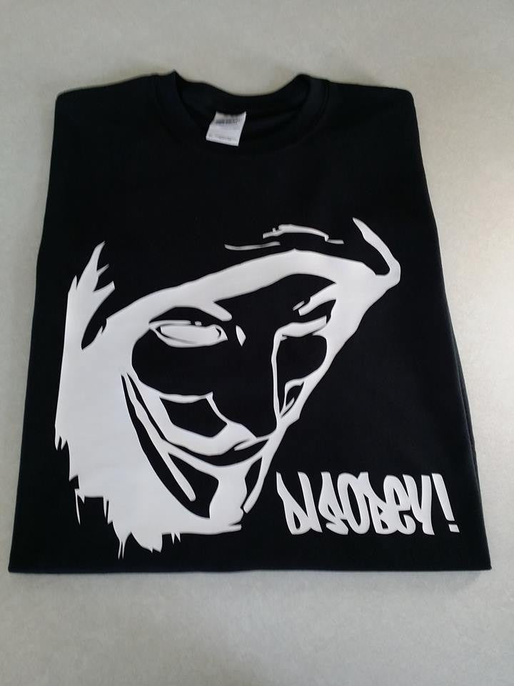 Anonymous DISOBEY Guy Fawkes Mask T-shirt