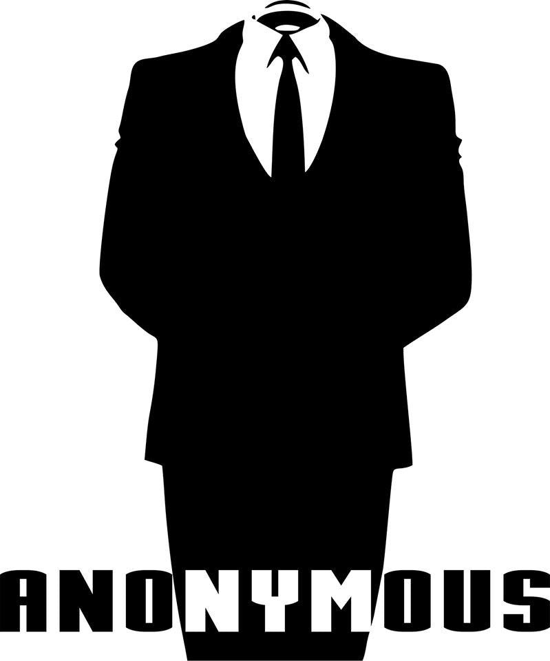 Anonymous - Die Cut Vinyl Sticker Decal