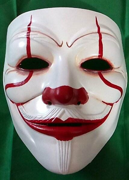 IT Horror Movie Custom Mask Hand Painted Guy Fawkes Anonymous Anon