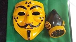 7 custom painted anon mask