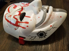 Anonymous ACAB Graffiti Blood Splatter Bullet Hole Custom Mask Guy Fawkes Hand Painted