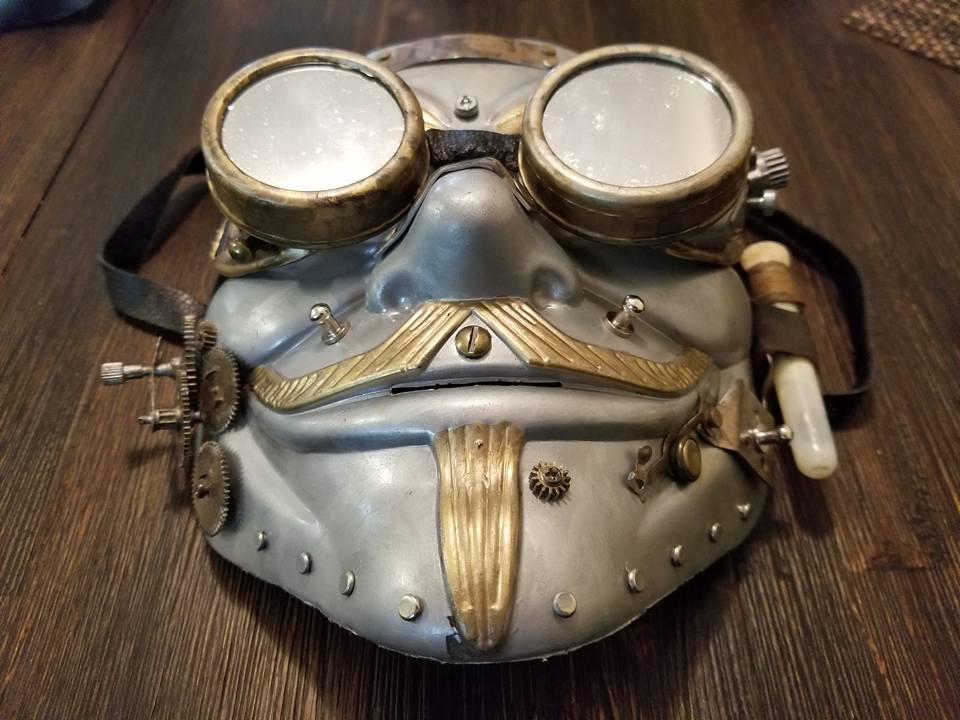 Steam Punk SteamPunk Custom Mask Hand Painted Guy Fawkes Anonymous Anon