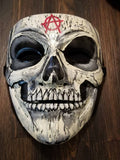 Anonymous Undead Anarchy Zombie Custom Mask Guy Fawkes Hand Painted