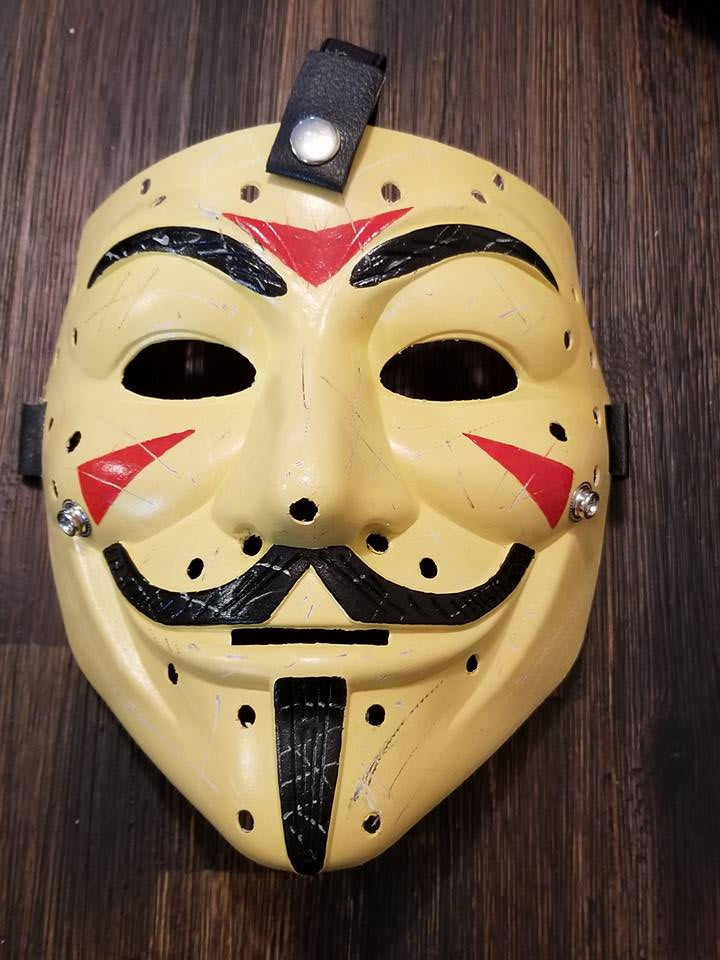 Anonymous Jason Friday the 13th Custom Mask Hand Painted Guy Fawkes Movie