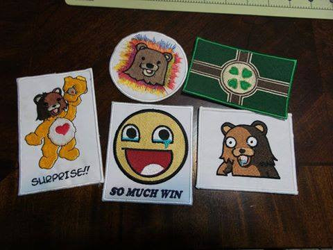 4chan Patches Lot of 5