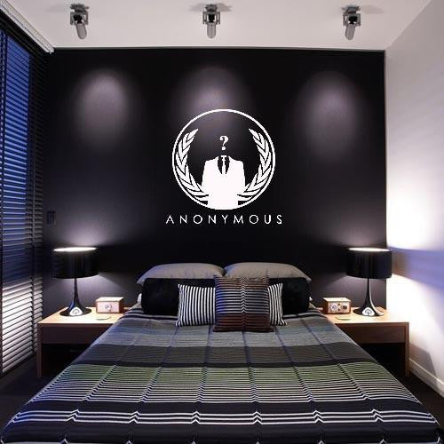 "Anonymous Crest - 23"" Die Cut Vinyl Wall Decal Sticker"
