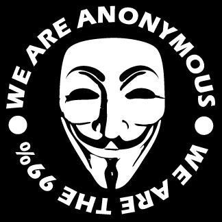 We Are Anonymous - We Are the 99% - Die Cut Vinyl Sticker Decal