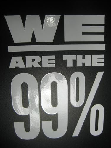 WE ARE THE 99% Occupy sticker | Peel and Stick Vinyl Decal Sticker