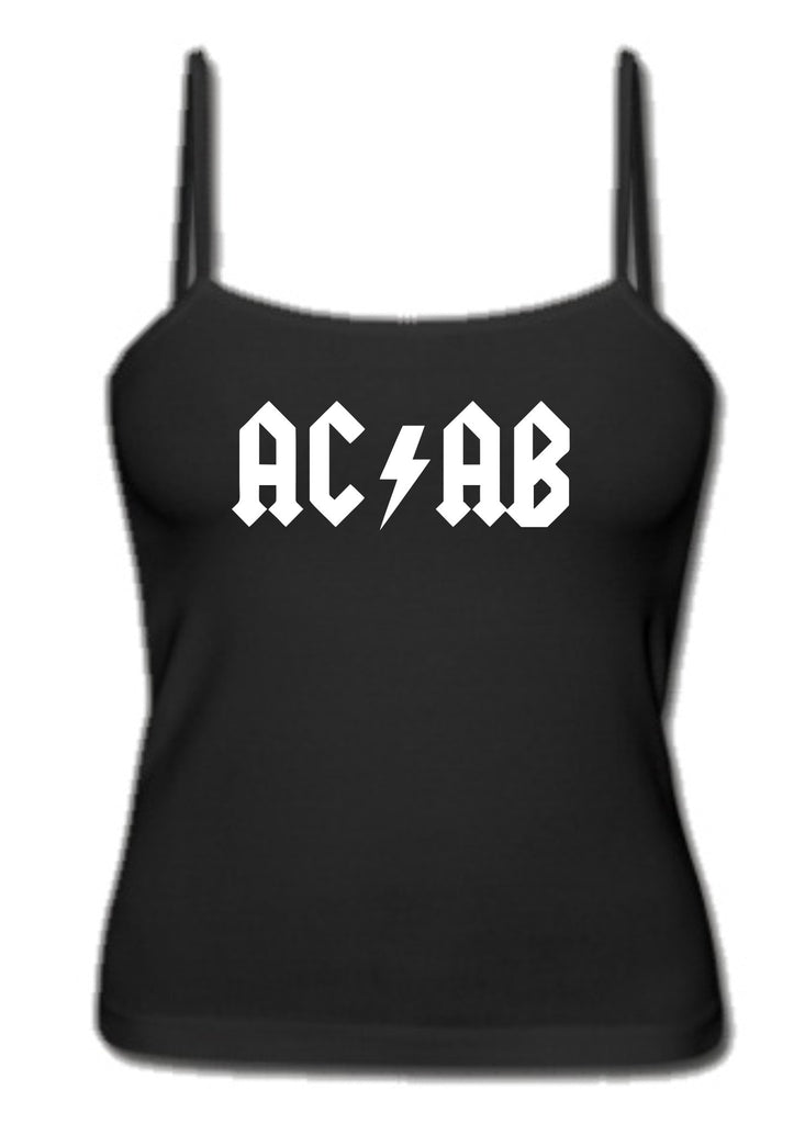 ACAB All Cops Are Bastards AC/DC Logo A.C.A.B. Women's Singlet