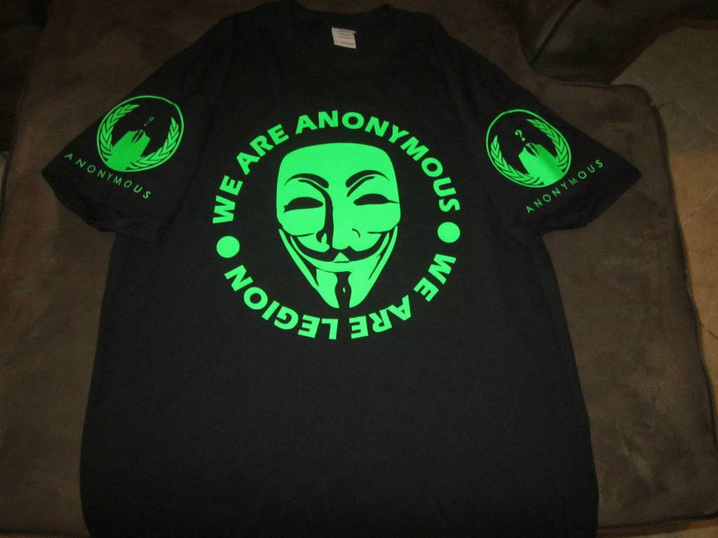 Anonymous We Are Legion Neon Sleeve Logos