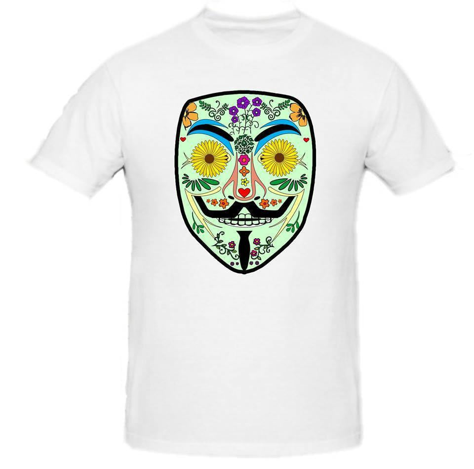 Day of the Dead Anonymous Green Mask T-shirt