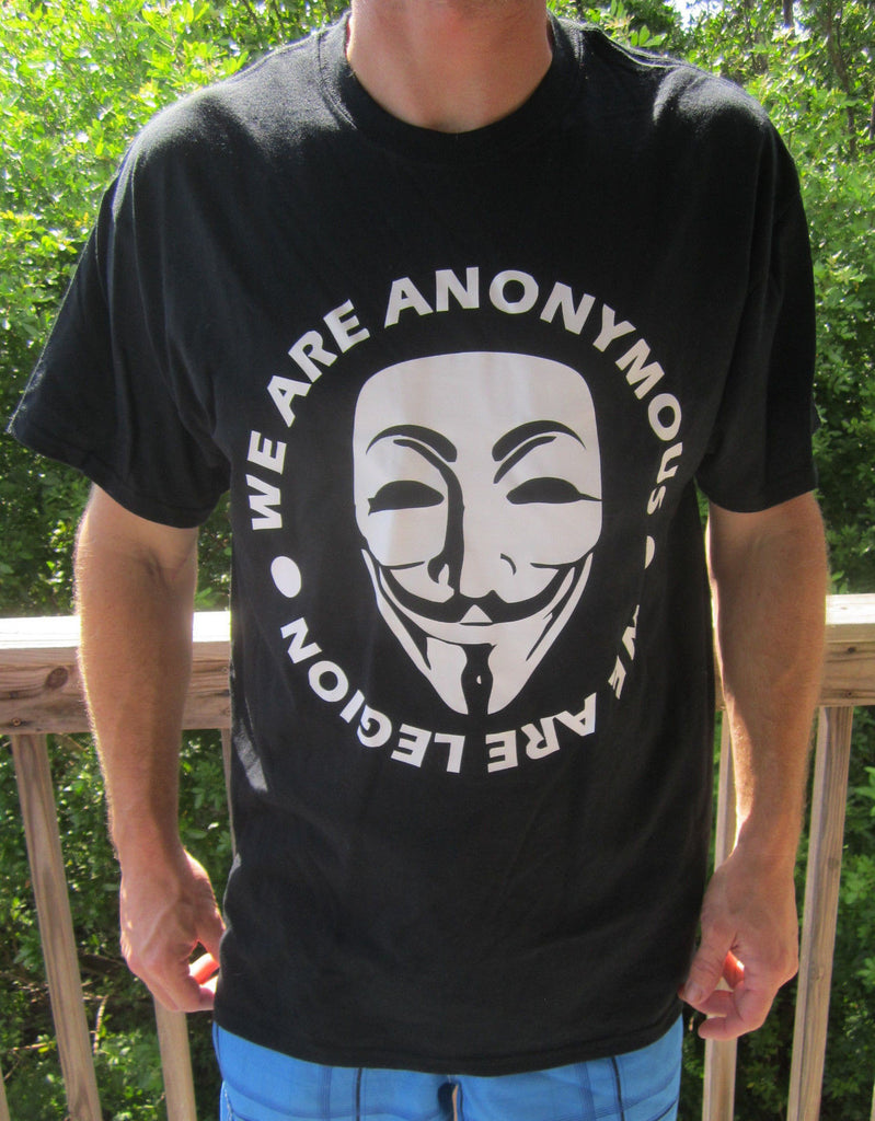 We Are Anonymous - We Are Legion with Guy Fawkes Mask T-shirt