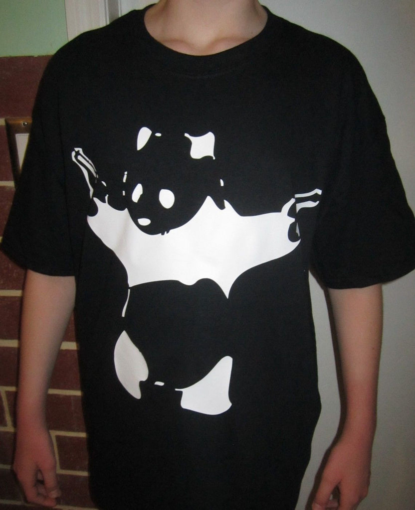 Banksy Street Art Shooting Panda T-shirt
