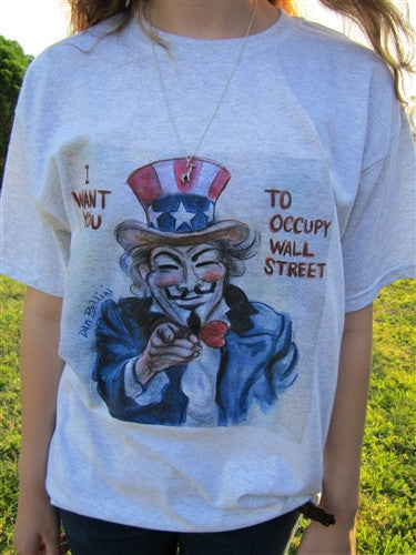 Anonymous Uncle Sam T-shirt | Dan Bellini Occupy Art