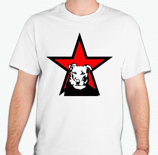 Loukanikos Greek Riot Dog Red And Black Star T-shirt
