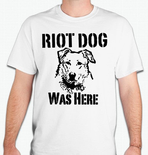 Loukanikos Greek Riot Dog Red Was Here T-shirt