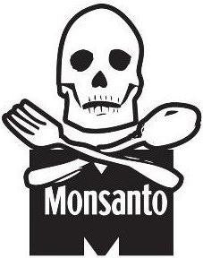 Monsanto skull - Die Cut Vinyl Sticker Decal