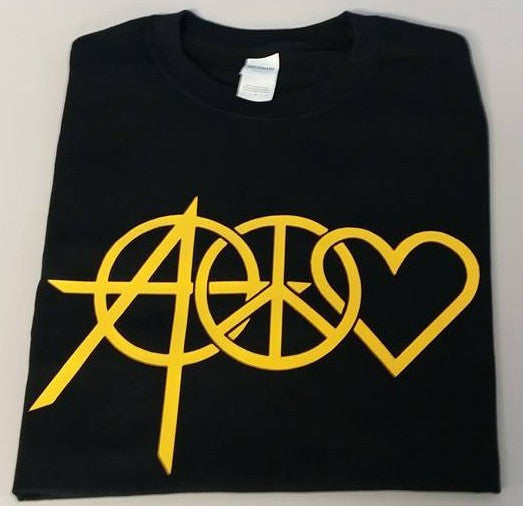 Peace Love Anarchy Punk Rock Music T-shirt
