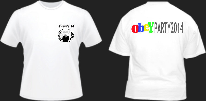 Paypal 14 OBEY Party fundraiser t-shirt