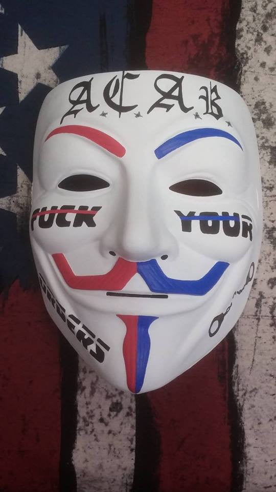 ACAB Anonymous Fuck Your Orders Custom Mask Hand Painted