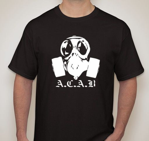 ACAB Gas Mask Riot T-shirt