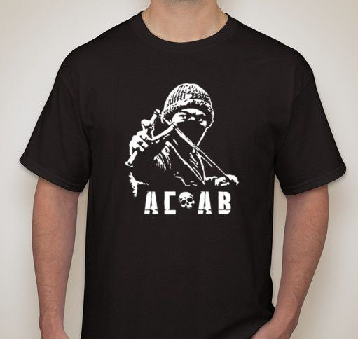 ACAB Slingshot With Skull T-shirt