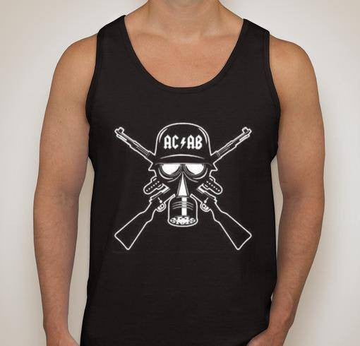 ACAB Gas Mask With Guns Tank Top