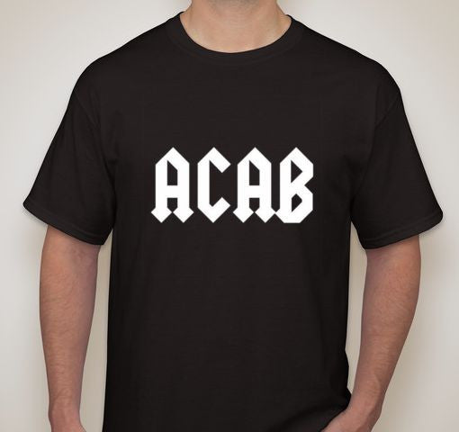 ACAB White Text T-shirt