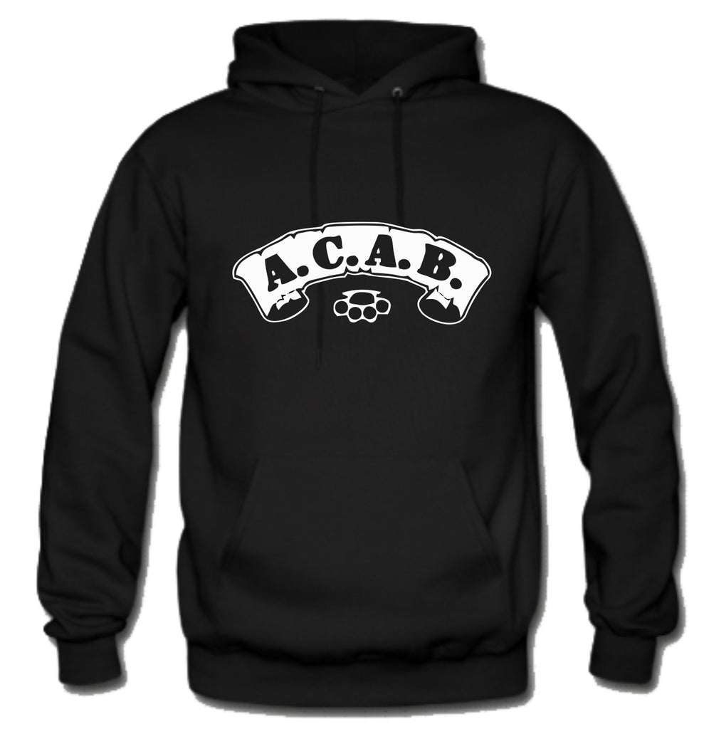 ACAB Scroll with Brass Knuckles A.C.A.B. Hoodie