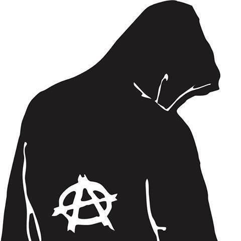 Anarchist In Hoodie Die Cut Vinyl Sticker Decal
