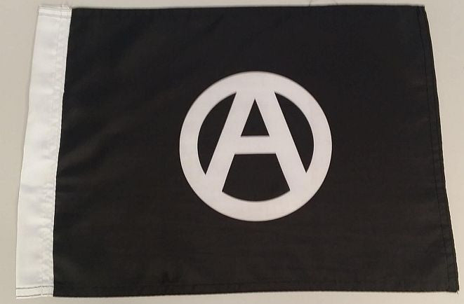 "Anarchist Black 15x12"" Mini Flag"