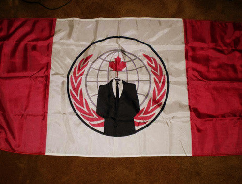 Anonymous Canada Large Flag 5x3 feet