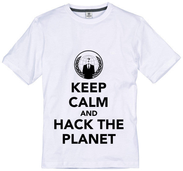Anonymous Keep Calm & Hack the Planet T-shirt