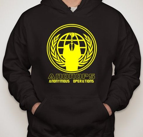 Anonymous Operations - AnonOps Yellow Art Hoodie