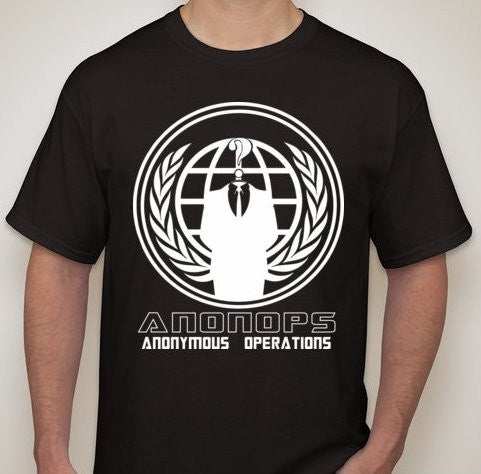 Anonymous Operations White Art T-shirt