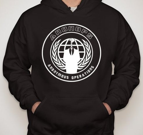 ANONYMOUS ANONOPS CREST WHITE ART HOODIE