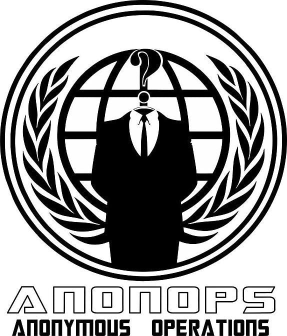 AnonOps Anonymous Operations Variation | Die Cut Vinyl Sticker Decal
