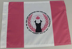 "Anonymiss Canada Anonymous Crest Credo 15x12"" Mini Flag"