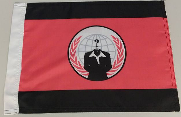 "Anonymiss Anonymous Crest 15x12"" Mini Flag"