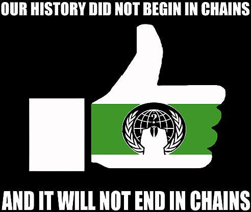Anonymous Our History Did Not Begin In Chains | Die Cut Vinyl Sticker Decal