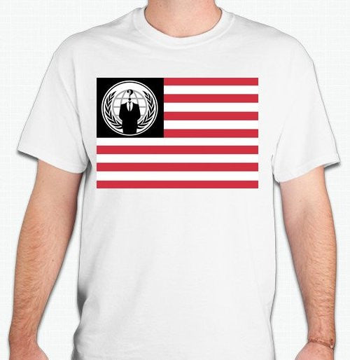 Anonymous American Flag T-shirt