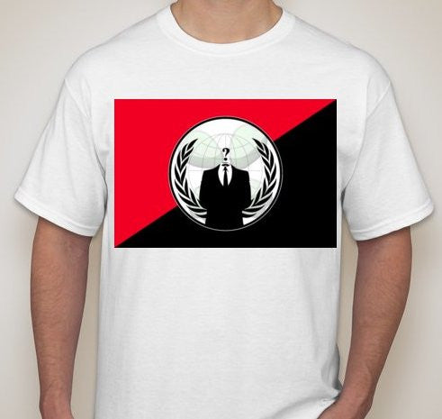 Anonymous Anarchist Red&Black T-shirt