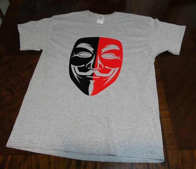 Anonymous Anarchist Red&Black Mask T-shirt