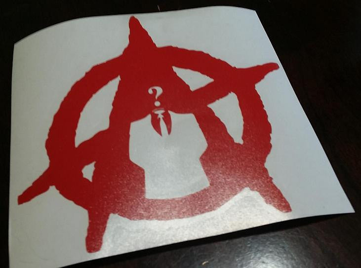 Anonymous Anarchy |  Die Cut Vinyl Sticker Decal