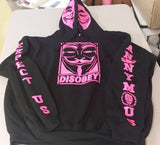 Anonymous Anonymiss Disobey Pink Art Hoodie