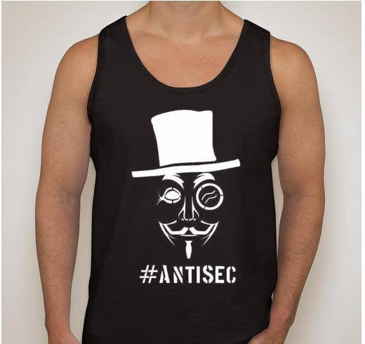 Anonymous Antisec Sir Top Hat Tank Top