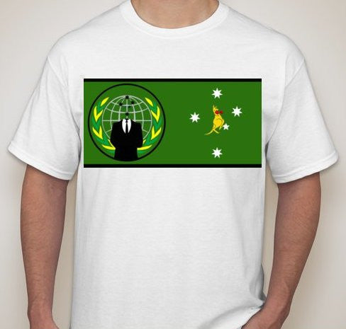 Anonymous Australia Kangaroo T-shirt