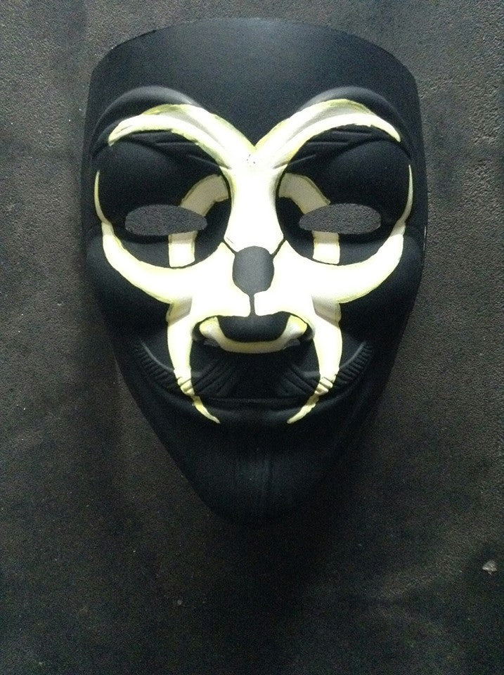 Anonymous Biohazard Gamer Custom Mask Hand Painted Guy Fawkes