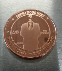 Anonymous Bitcoin Investment-grade Copper Collectible Coin